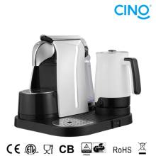 Kapsel-Kaffee-Maschine mit Milchschäumer