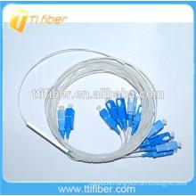0.9mm Mini Fiber Optic PLC Splitter 2x16