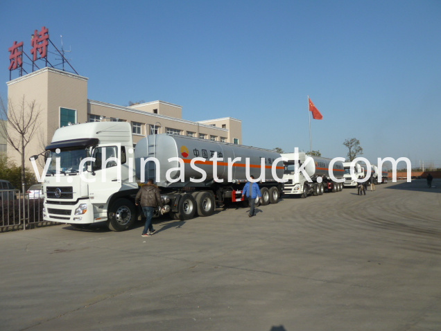 Gas station us 3 axle 50CBM fuel tank semi-trailer