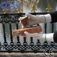 NMSAFETY 7G polycotton trabajo guantes a granel natural polycotton mano guantes construcción