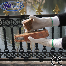 NMSAFETY 7г работы поликоттон перчатки натуральный поликоттон силы безопасности перчатки строительства