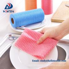 Panos de limpeza descartáveis antibacterianos de Spunlace da absorvência líquida alta