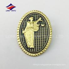 Delicate fashion zinc alloy cloth soft enamel lapel pin