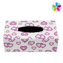 Lovely Design Rectangle Leather Tissue Box (ZJH069)