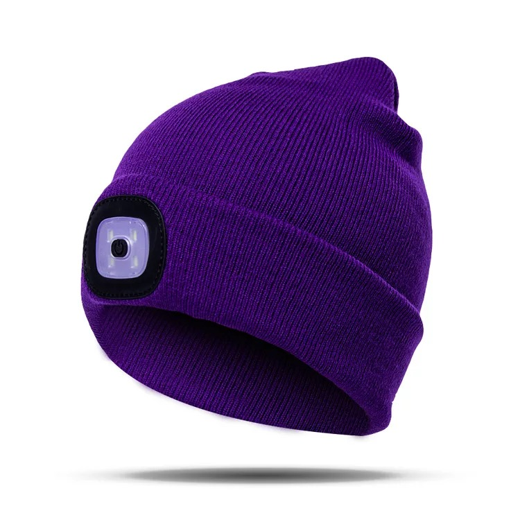2018 Popular Led Beanie Hat With Lamp 2