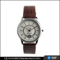 Art und Weisequarzmannuhren importieren Uhrbewegung, Edelstahlrückseitenuhr