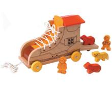 Brinquedo de madeira brincalhão push & pull