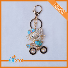 Cat shape Key Chain High Quality Rhinestone Keychain