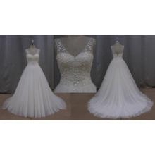 Flores de la tela de China del vestido de boda para casarse