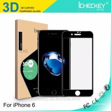 verre trempé de haute qualité en fibre de carbone 3D pour iphone 7