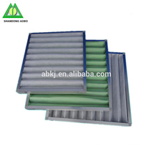 Filtro de aire plisado del panel de flujo de aire de la fibra sintética lavable del precio barato