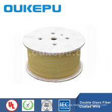 double fiber glass coverd rectangular wire,glass fiber covered copper conductor, fiber glass coverd wire price
