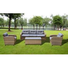 Conjunto de sofá novo vime antigo mobília ao ar livre