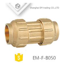 EM-F-B050 2 Wege Messing Spanien Durchmesser Compression Rohrverschraubung