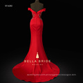HOT China supplier Chino bordado charmeuse sereia vestido de noite