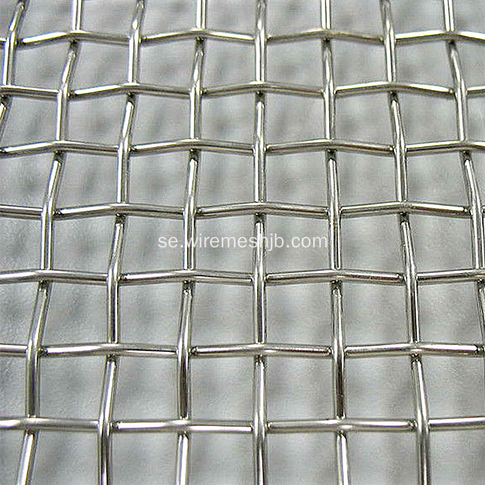 Galvaniserad eller SS Crimped Wire Screen