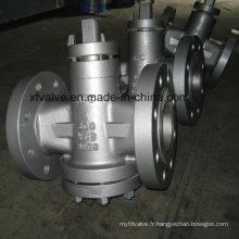 Valve standard à haute pression en acier au carbone Wcb