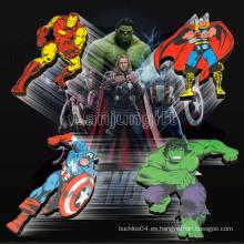 Imán del refrigerador del superhéroe de la maravi El capitán America Hulk del capitán de la araña-hombre del hombre del hierro de los vengadores