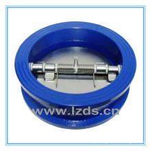 Válvula de retenção de borracha de disco duplo de ferro fundido