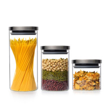 Tarro de comida, tarro de vidrio, lata de cocina con tapa, botella de almacenamiento