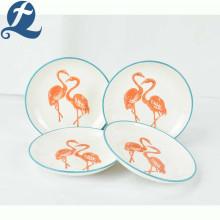 Diseño impreso personalizado de alta calidad delicada calcomanía placa de cerámica
