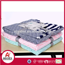 AB side disperse printing microfiber reversible quilts for home use