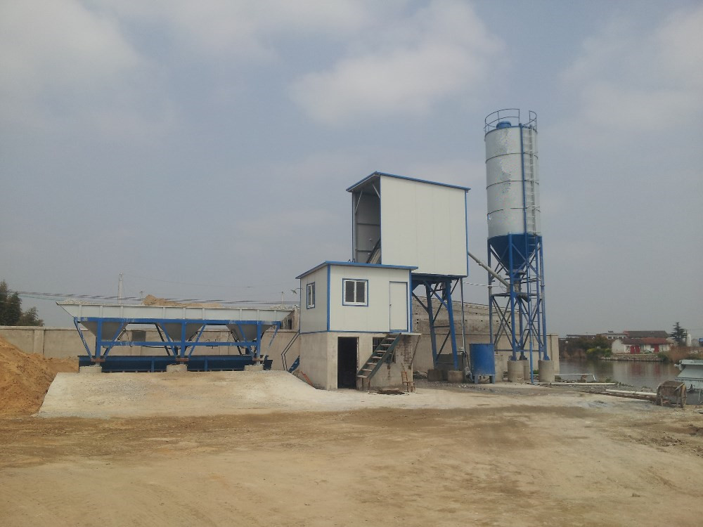 Commercial concrete plant