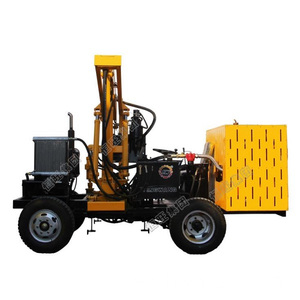 Road Barrier Mounted Sheet Pile Driver Machine