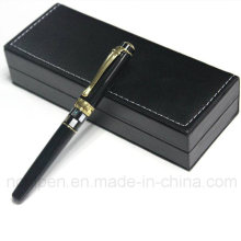 Conjunto de canetas pretas de metal superior para presente de negócios