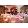 Hochzeit-Stil benutzerdefinierte dekorativen runden Tisch Tuch/Tabelle luxuriöse Sessel Deckung