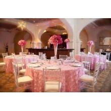 mariage style tissu/table de table ronde décorative personnalisée housse fauteuil luxueux