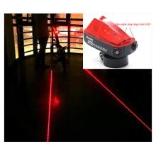 Radfahren Fahrrad Fahrrad 2 Laser Strahl + 5 LED Rückleuchte 3 Modi Lampe