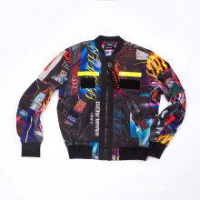 Homens Poliéster em toda a jaqueta de impressão