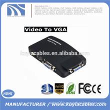 AV RCA Composite S-VIDEO Input to VGA Output Monitor Converter Adapter DVD CCTV