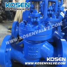 Válvula de globo sellada con fuelles de alta presión DIN (WJ41H)