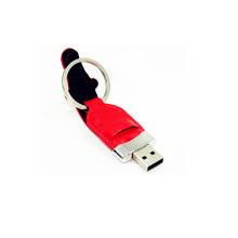 Personalizado logotipo de couro USB Flash Drive (EL003)