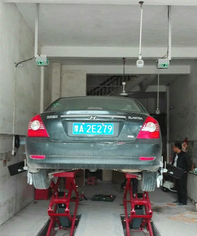 Car Wheel Alignment Operation