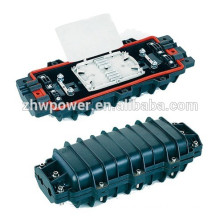 Oem horizontal type fiber closure , horizontal type 3m 2 inlet 2 outlet fiber optic joint closure with splicing tray