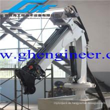 Kleine Größe Elektrische hydraulische Teleskop-Gelenkausleger-Ausrüstung Marine-Falt-Hebekran zum Verkauf