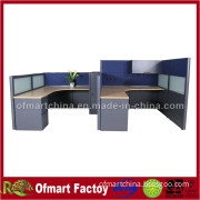 Modern Office Furniture with 4 Seats in Melamine