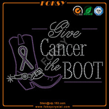 give cancer the boot iron on heat transfers wholesale