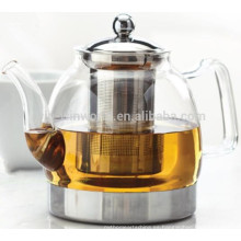 2018 Tetera de cristal a prueba de calor clara Handblown antigua vendedora superior de China