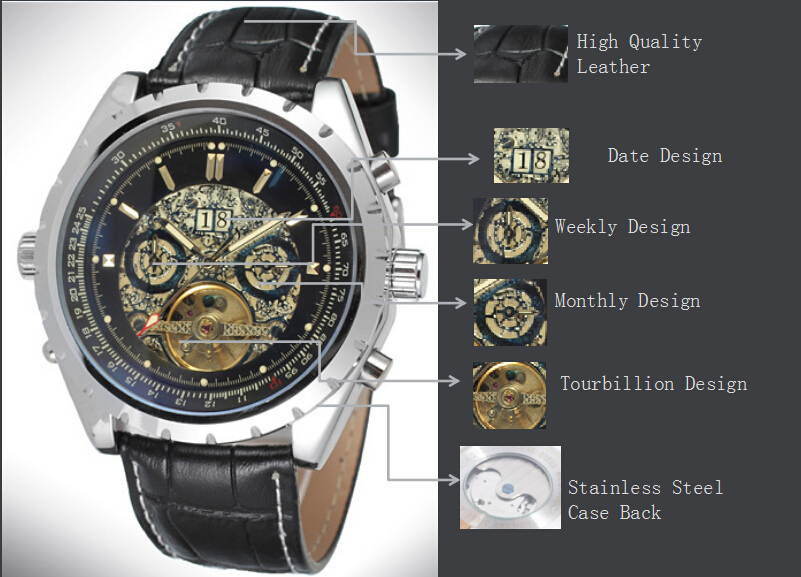 OEM/ODM Automatic Tourbillon Stainless Steel Watch Brand