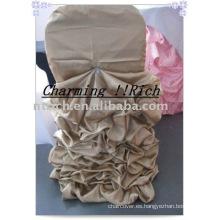 Funda de silla con volantes de boda, funda de traje de boda