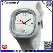 Promoción Yxl-111 Venta caliente Jelly Ladies Watch Watch Candy Color Casual Sport Sport Reloj de los hombres Regalo