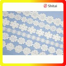 Customized for China Chemical Lace Trimming,White Lace Fabric,Chemical Lace Fabric Supplier new fashion lady  embroidery lace designs export to Poland Exporter