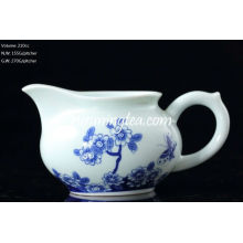 """Butterflies Lingering Over Flowers"" Painting Blue & White Pitcher, 200cc/pitcher"