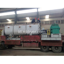 Chemical Slurry Hollow Shaft Paddle Dryer untuk Electroplating Sludge