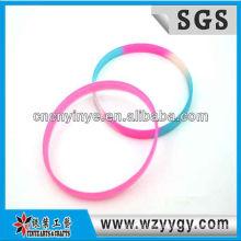 Laço de cinta de silicone coloridos para crianças, envoltório de silicone barato pulseira