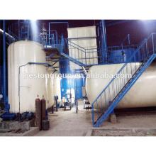 système de pyrolyse pour convertir le plastique en huile, machine de distillaion d'huile de moteur de rebut / pétrole brut